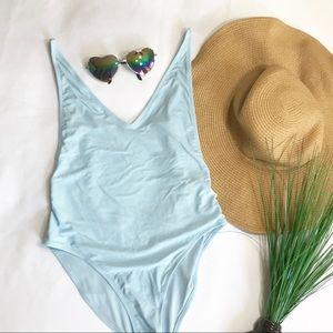 Topshop Swim - • Topshop Baby Blue One-Piece Bikini •